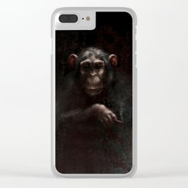 Chimpanzee II Clear iPhone Case