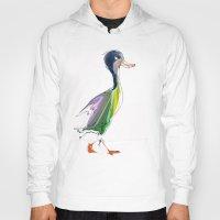duck Hoodies featuring duck by tatiana-teni