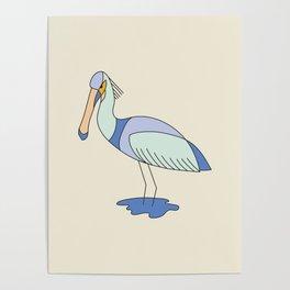 Eurasian Spoonbill 2.0 Poster