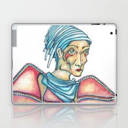 Blue Hat Woman Laptop & iPad Skin