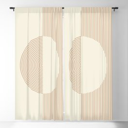 Geometric lines in Shades of Coffee and Latte 3 Blackout Curtain