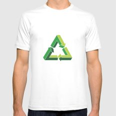 Recycle Infinitely White MEDIUM Mens Fitted Tee