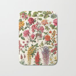 Vintage French Floral Print Bath Mat