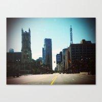 detroit Canvas Prints featuring Detroit by Jami Davidson