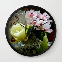 Heavenly May Flowers, Looking Up Wall Clock