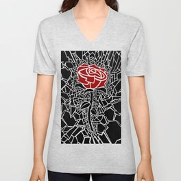 The Shattered Rose Unisex V-Neck