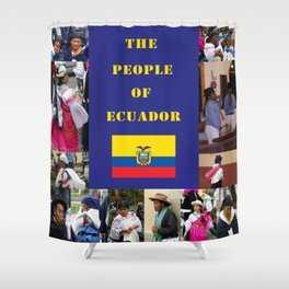 The People of Ecuador, Collage Shower Curtain