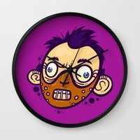 hannibal Wall Clocks featuring Hannibal by Artistic Dyslexia