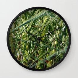 Palm tree foliage Wall Clock