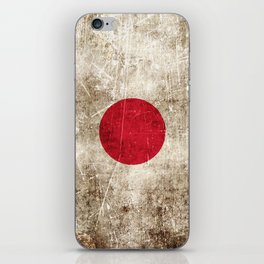 Vintage Aged and Scratched Japanese Flag iPhone Skin