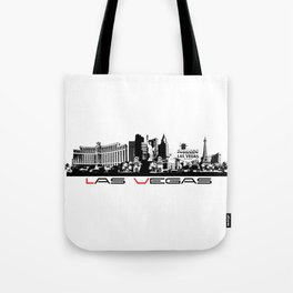 Las Vegas skyline black Tote Bag
