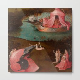 "Hieronymus Bosch ""The Last Judgment"" triptych (Bruges) left panel Metal Print"