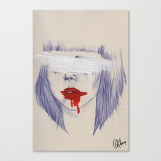 Damaged hearts Canvas Print