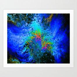 Oil On Pavement: Eruption Art Print