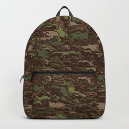 Camouflage Swirls Pattern Backpack