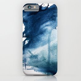 Pacific Grove: a pretty minimal abstract piece in blue by Alyssa Hamilton Art iPhone Case