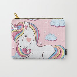 Cute unicorn illustration. Carry-All Pouch