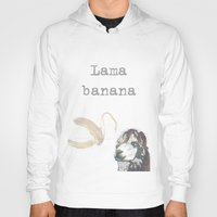 lama Hoodies featuring Lama banana by Lama BOO