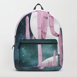 Cactus Nights Full Moon Starry Purple + Teal by Nature Magick Backpack