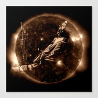 miles davis Canvas Prints featuring Miles Davis - Jazz´n away by ARTito