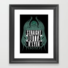Straight Outta R'lyeh Framed Art Print