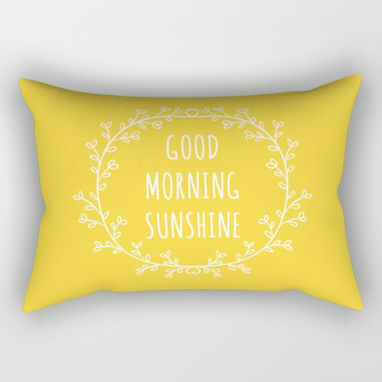 Good Morning Sunshine Rectangular Pillow