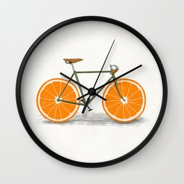 Zest (Orange Wheels) Wall Clock