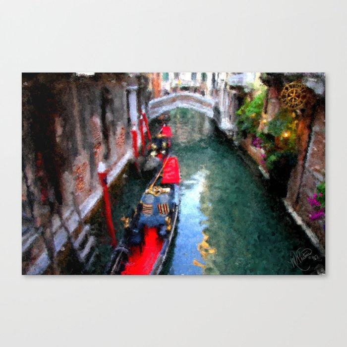 Venitian Canal Canvas Print