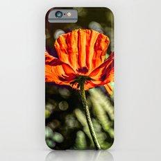 Glowing Poppy  Slim Case iPhone 6s