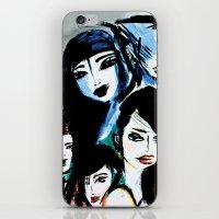 women iPhone & iPod Skins featuring Women by caribarbachano