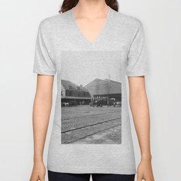 New York Central Railroad depot, Syracuse, N.Y. Unisex V-Neck