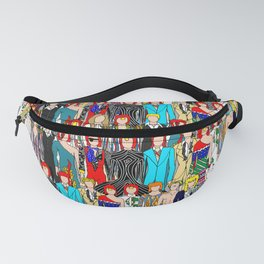 Rock Stars Heroes LV Gray Fanny Pack
