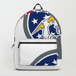 American Electrician USA Flag Icon Backpack