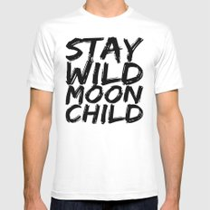 STAY WILD MOON CHILD MEDIUM White Mens Fitted Tee