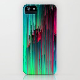 Just Chillin' - Abstract Neon Glitch Pixel Art iPhone Case
