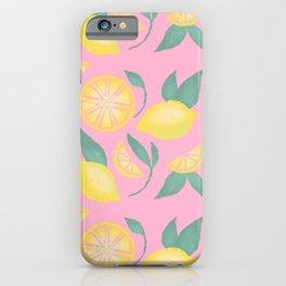 Sweet Summer Lemons iPhone Case