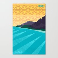 hawaii Canvas Prints featuring Hawaii by AtomicChild