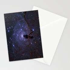 Black crow in moonlight Stationery Cards