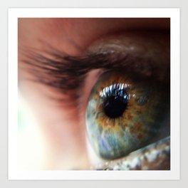 Her eye Art Print