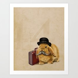 Commuter Bunny Art Print