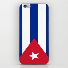 Flag of Cuba -cuban,havana, guevara,che,castro,tropical,central america,spanish,latine iPhone Skin