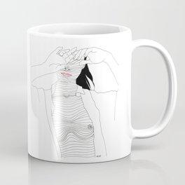 line drawing of a beautiful muse Coffee Mug