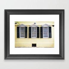 Sunny Charleston Windows Framed Art Print