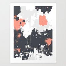Abstract Paint Pattern 01 Art Print