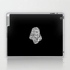 Darth Vader [White on Black] Laptop & iPad Skin