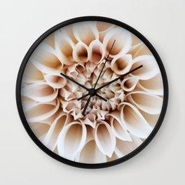 Cafe Au Lait Dahlia Wall Clock