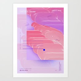 Borderline - Abstract Poster Art Print