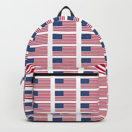 american flag 2-Usa,america,us,stars and strips, patriotic,patriot,united states,american,spangled Backpack