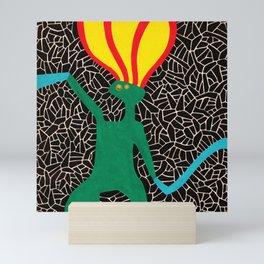 Jumping pony in fire Mini Art Print
