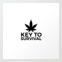 Weed Cannabis leaf gift idea 420 Art Print